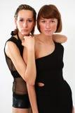 Twee vrouwenportret stock foto's