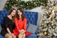 Twee vrouwenvrienden Royalty-vrije Stock Foto's