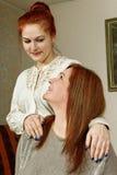 Twee vrouwenvrienden. Royalty-vrije Stock Afbeeldingen