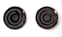 Twee warmhoudplaten stock afbeelding