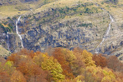 Twee watervallen royalty-vrije stock afbeeldingen