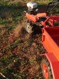 Twee-wiel tractor met aanhangwagen royalty-vrije stock foto