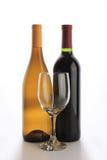 Twee wijnflessen Stock Afbeelding