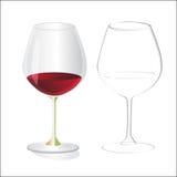 Twee wijnglas Royalty-vrije Stock Foto