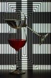 Twee wijnglazen royalty-vrije stock afbeeldingen