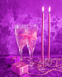 Twee wijnglazen Royalty-vrije Stock Afbeelding