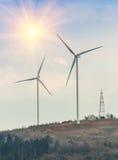 Twee windmolens Stock Afbeelding