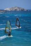 Twee Windsurfer Royalty-vrije Stock Fotografie