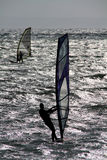 Twee windsurfers. Stock Foto