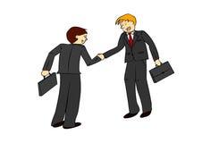 Twee zakenlieden die handen schudden Royalty-vrije Stock Afbeeldingen