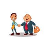 Twee zakenlieden die handen schudden Stock Illustratie