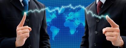 Twee zakenlieden die partner gaan zijn Stock Afbeelding