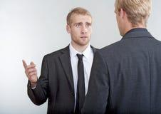 Twee zakenlieden het bespreken Royalty-vrije Stock Afbeelding