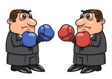 Twee zakenlieden met bokshandschoenen 2 Stock Foto's