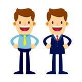 Twee Zakenman Characters With Suits en Overhemd Stock Afbeelding