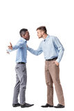 Twee zakenman het debatteren Stock Afbeeldingen
