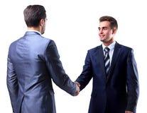 Twee zakenman het schudden handen royalty-vrije stock afbeelding