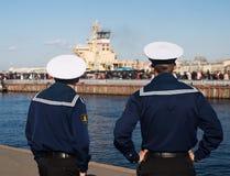 Twee zeeman, Rusland Stock Foto's