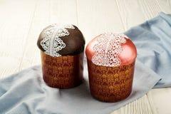 Twee zoete Pasen-broodcakes Royalty-vrije Stock Afbeelding