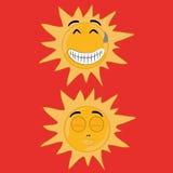 Twee zonnen Stock Illustratie