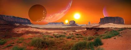 Twee zonnenzonsopgang Royalty-vrije Stock Afbeeldingen
