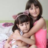 Twee zusters royalty-vrije stock afbeeldingen