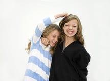 Twee zusters het vechten Stock Afbeelding