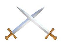 Twee zwaarden vector illustratie