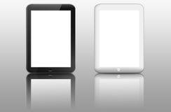 Twee zwart-witte computers van tabletpc royalty-vrije illustratie
