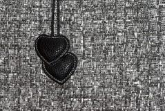 Twee zwarte harten royalty-vrije stock foto