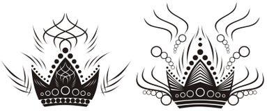 twee zwarte kronen Royalty-vrije Stock Afbeeldingen