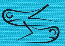 Twee zwarte vissen royalty-vrije illustratie