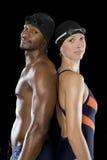 Twee Zwemmers Royalty-vrije Stock Fotografie