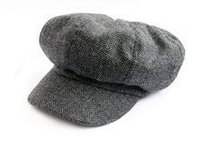 Tweed cap. Isolated on white background Royalty Free Stock Photos