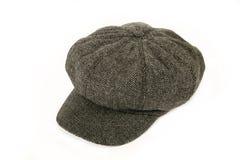 Tweed cap. Isolated on white background Stock Photo