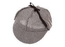 Tweed deerstalker hat Stock Image