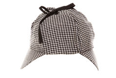 Tweed deerstalker hat Royalty Free Stock Photography