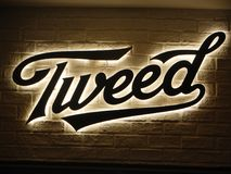 Tweed editorial Logo Sign foto de archivo