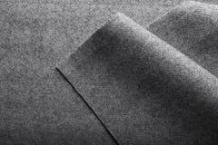 Tweed fabric, wool gray herringbone textile background. Stock Photo