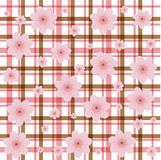 Tweed flower background Stock Photo