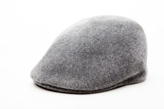 Tweed grey cap white background studio. Quality stock images