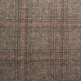 Tweed jacket fragment. Tweed striped jacket cloth material fragment as a background texture composition Stock Photo