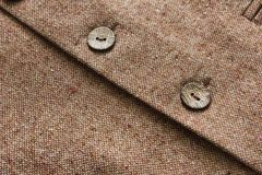 Tweed jacket with its details of buttons Royalty Free Stock Image