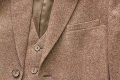 Tweed jacket with its details of buttons Royalty Free Stock Photo