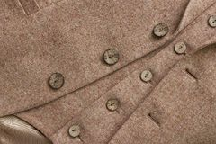 Tweed jacket with its details of buttons. And accessories Stock Image