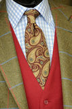 Tweed jacket and tie. Close up photo of Tweed jacket and tie Royalty Free Stock Images