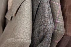 Tweed jackets detail close-up Stock Photos