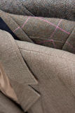 Tweed jackets detail close-up Stock Photography