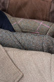 Tweed jackets detail close-up Stock Images