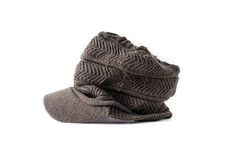 Tweed News Boy hat style Isolated Royalty Free Stock Image